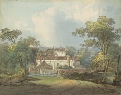 View of Holywell House, at the bottom of Holywell Hill, in the parish of St. Peter's at St. Alban's, on the road to St. Stephen's, built by Sarah, Duchess of Marlborough